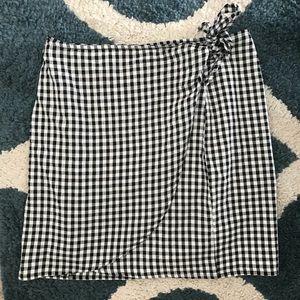 Madewell Gingham Mini Skirt